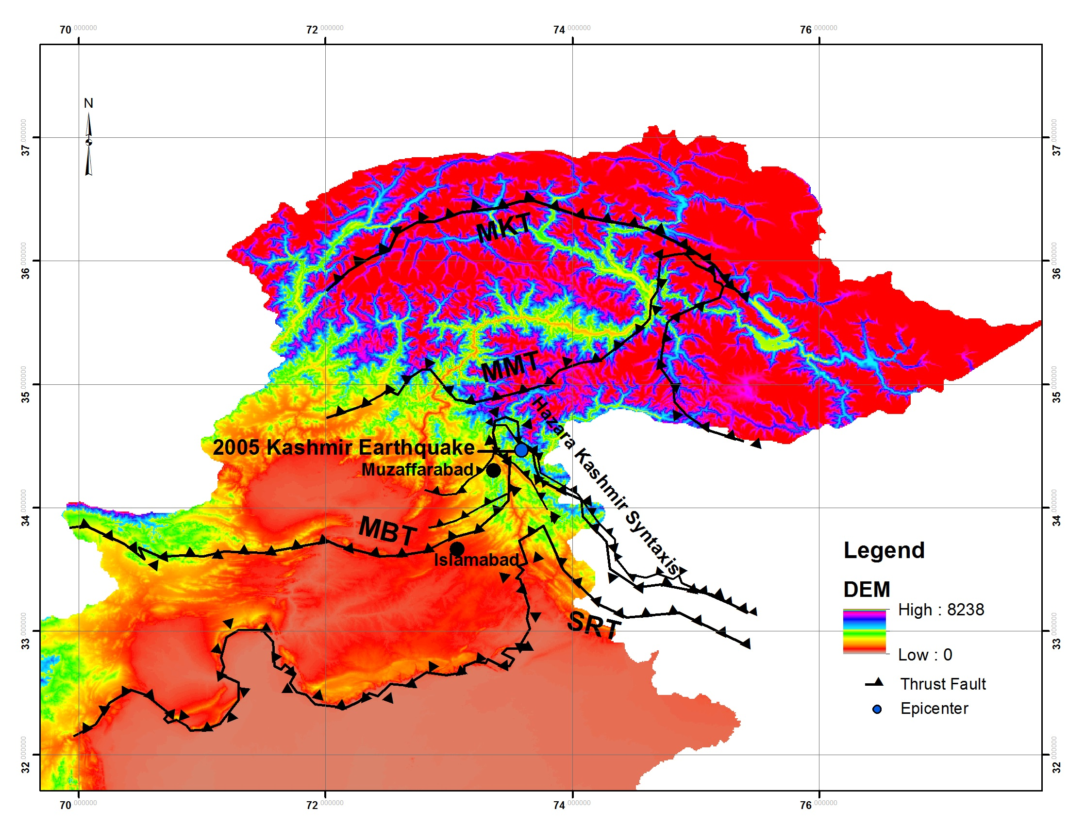 Analysis Of Landslides Triggered By October 2005  Kashmir