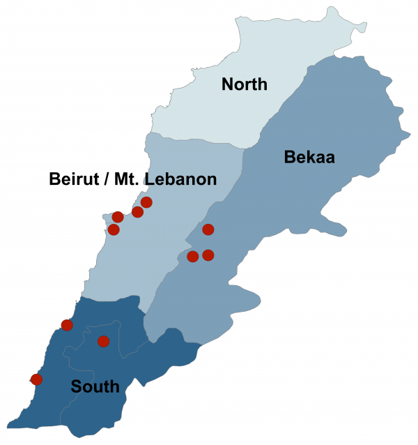 Figure 1. Participating Primary Health Centers by Geographic Area